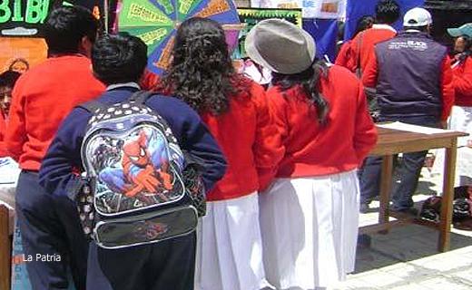Colegiales en La Paz