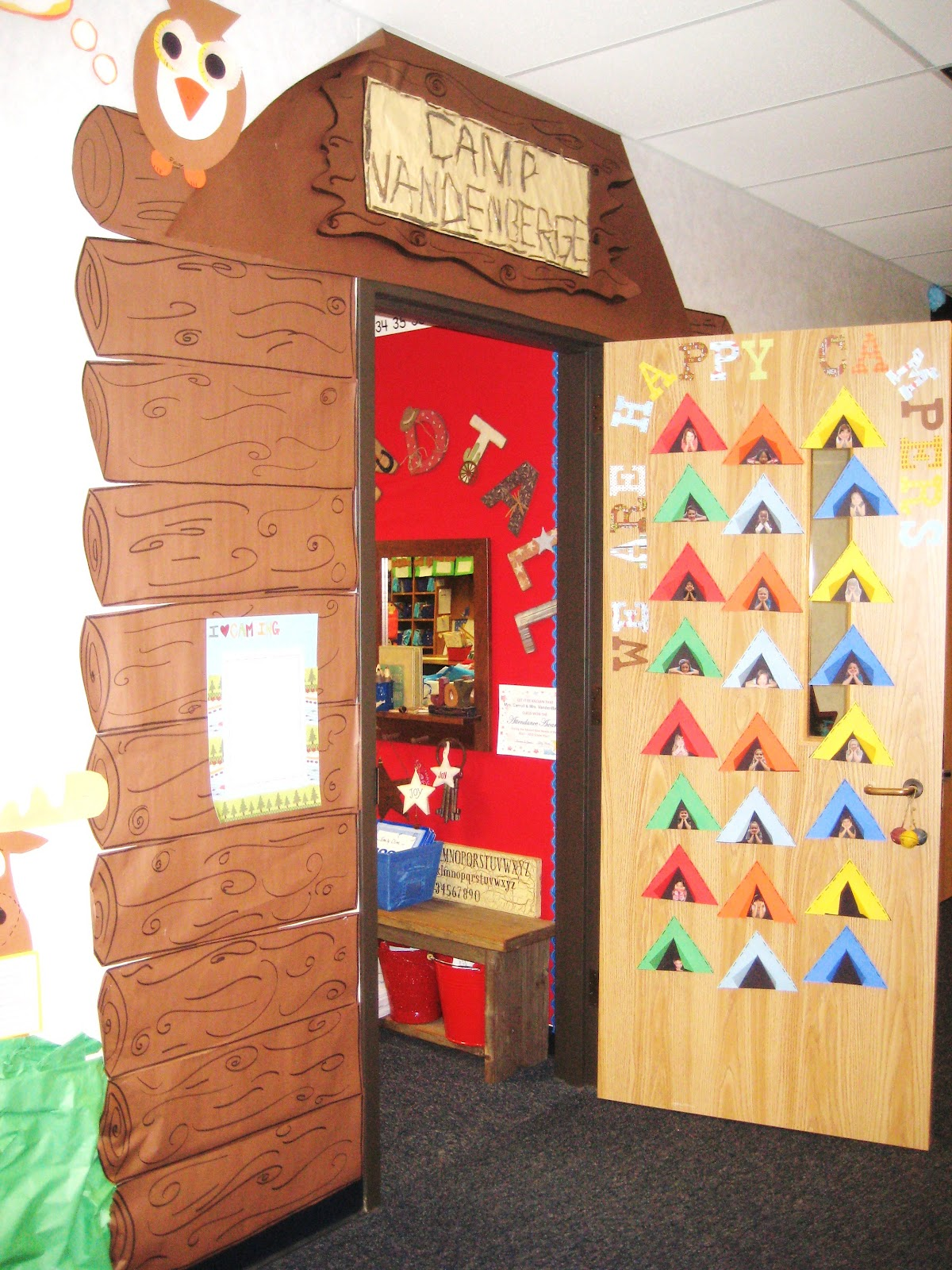 Summer Camp Classroom Decorations ~ First grade wow camping unit