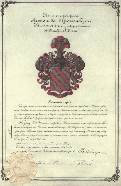 Herb rodziny Kronenbergów.
