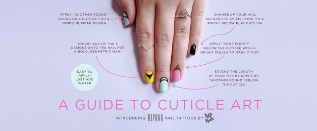 cuticle art - stick on tattoos - cuticle tattoos - nail art - nail trends
