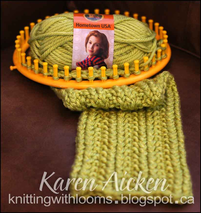Knitting With Looms: Textured Cowl