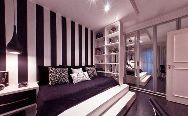 Chambre mur rouge et noir ~ Solutions pour la décoration intérieure ...