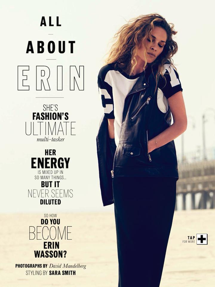 Erin Wasson By David Mandelberg For Elle Australia December 2013