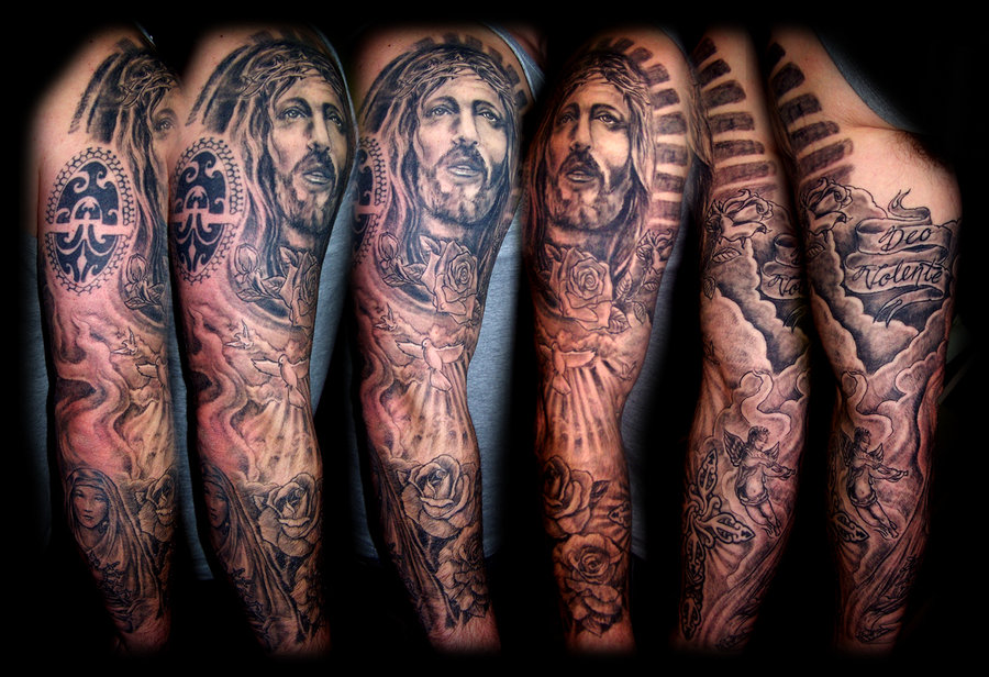 religious tattoos sleeves