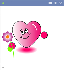 Heart face emoticon with flower