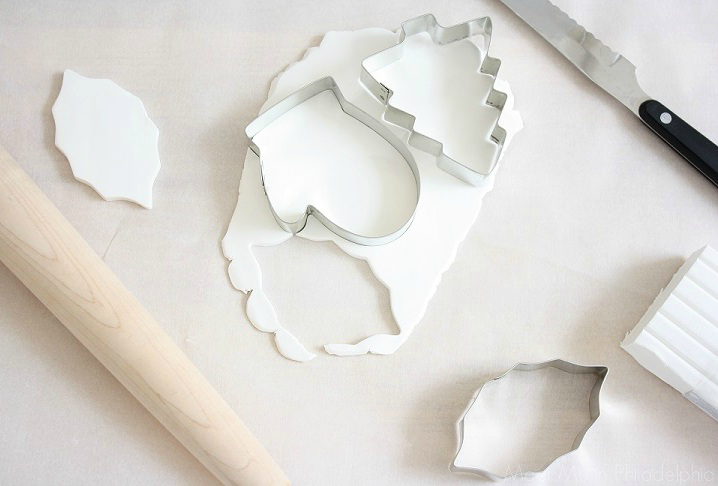 using cookie cutters on white clay via Meet Me in Philadelphia
