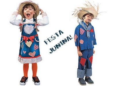 Roupa cipira infantil pra Festa Junina