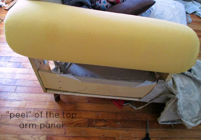 High Heels and Training Wheels: DIY Couch Reupholster With a Painteru0026#39;s Drop Cloth : Part 1: The ...