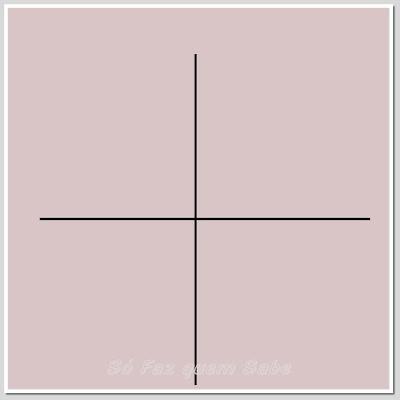 Retas ortogonais, uma horizontal e outra vertical.