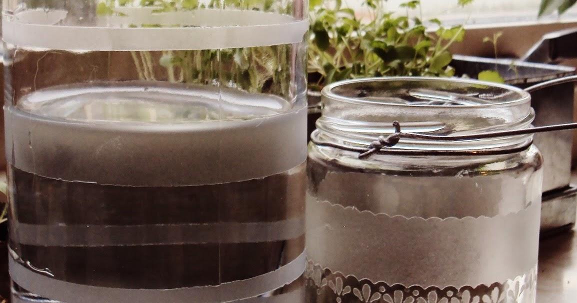 Händer på Björkvägen Frostat glas på burk