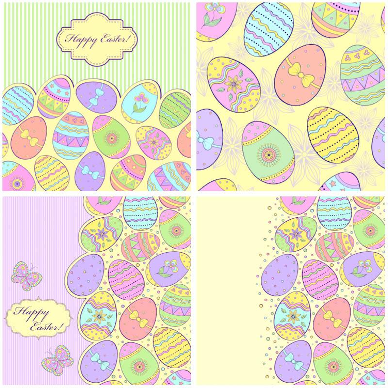 huevos de pascua dibujados