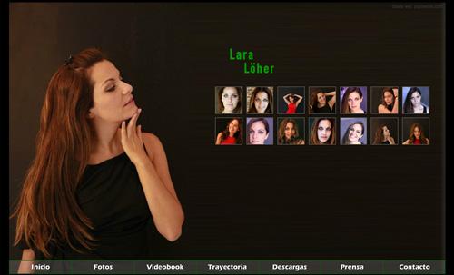 página web oficial de la actriz Lara Löher, diseñada por pepeworks