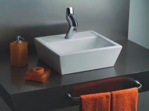 cuba para banheiro semi-enciaxe
