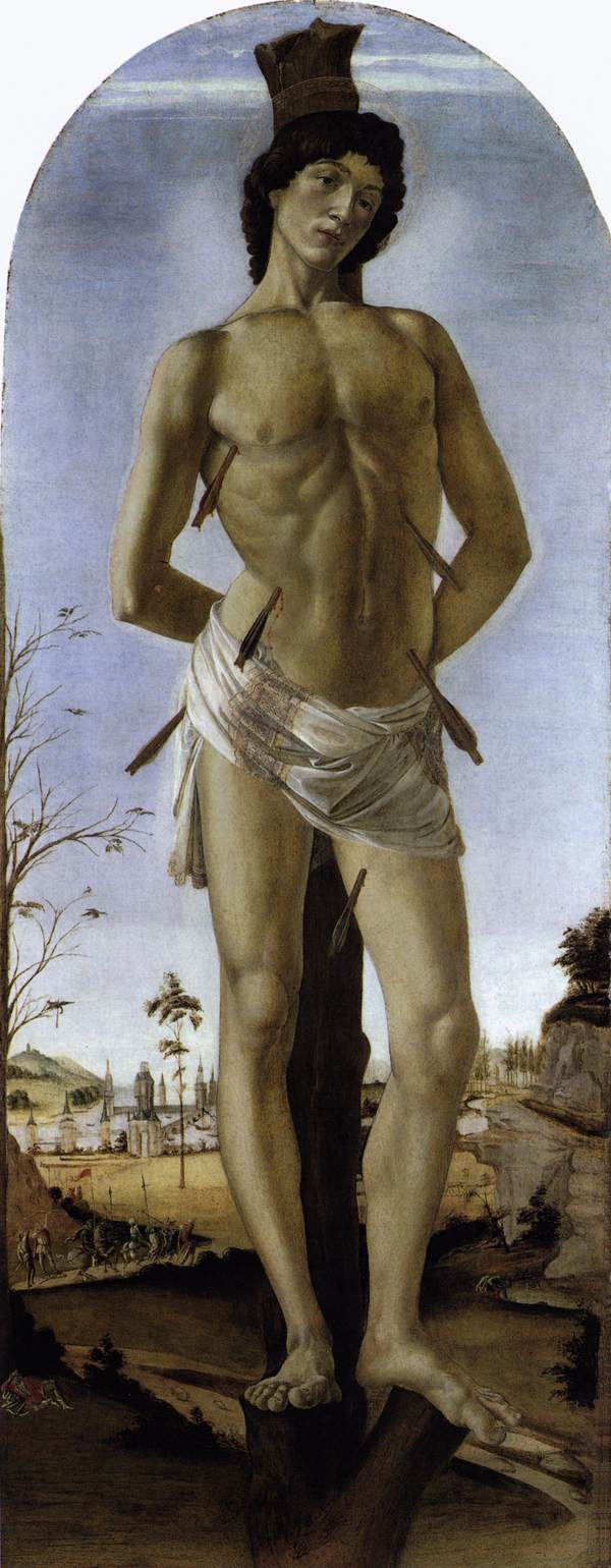 saint sebastian January 20 in art, saint sebastian is often depicted as standing near or strapped to a pole riddled with arrows indeed, he was executed by archers, but didn.