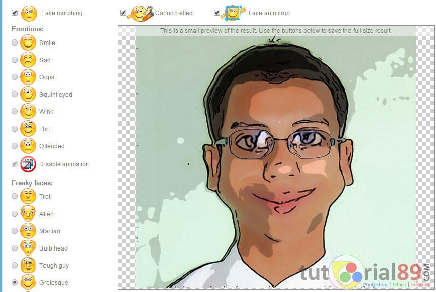Cara membuat foto menjadi efek kartun online