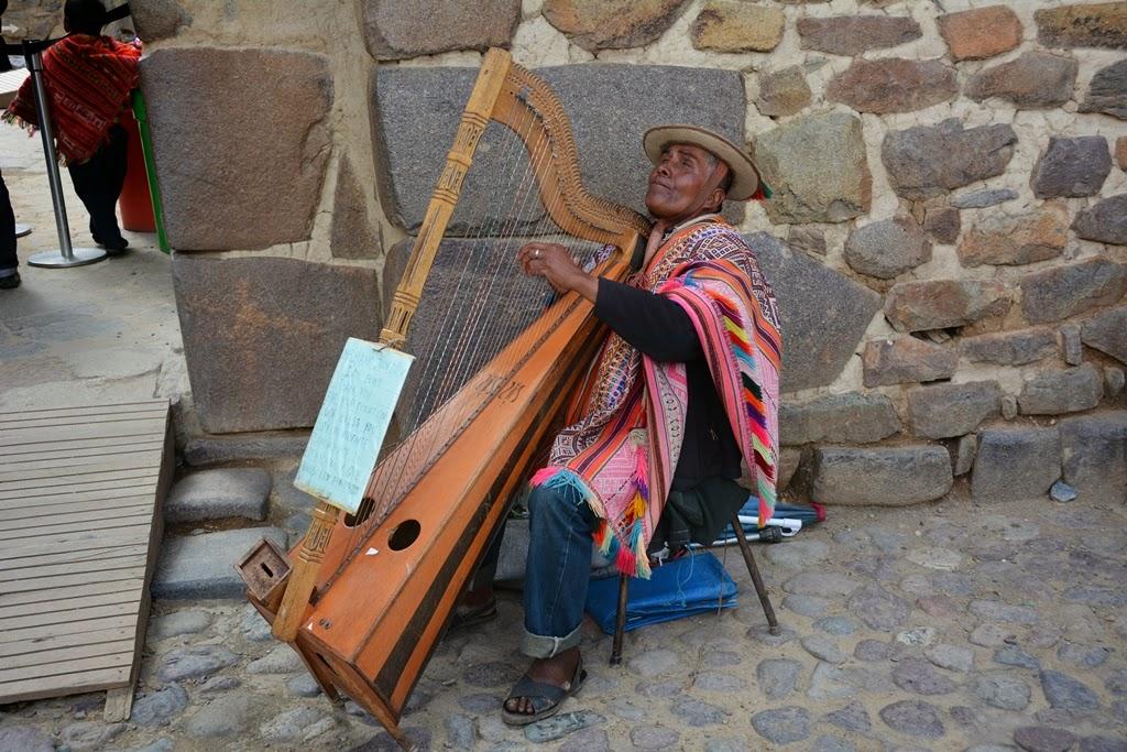 Ollantaytambo Town blind musician