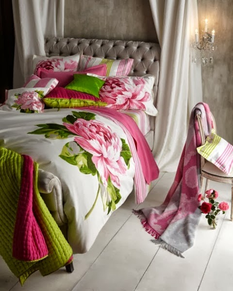 Eye for design decorating your home with the pink green for Pink green bedroom designs