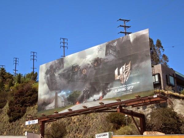 Transformers 4 movie teaser billboard