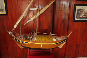 Model of fishing boat at the museum