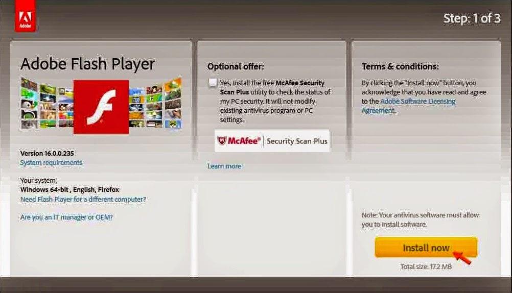 Cara Update Flash Player Computer Electric