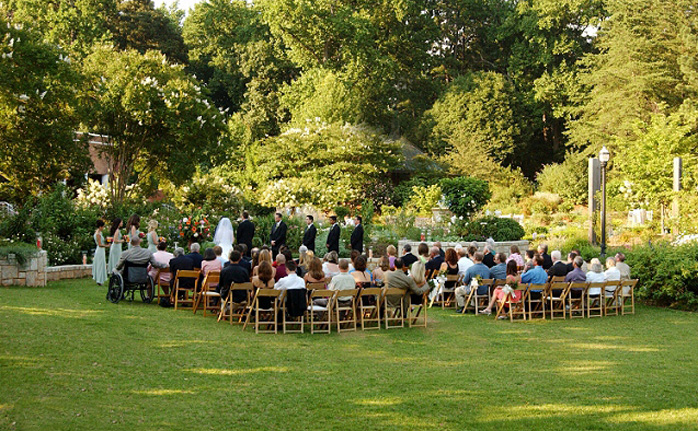 Rose Garden Botanical Gardens Wedding Venue And Reception At Atlanta