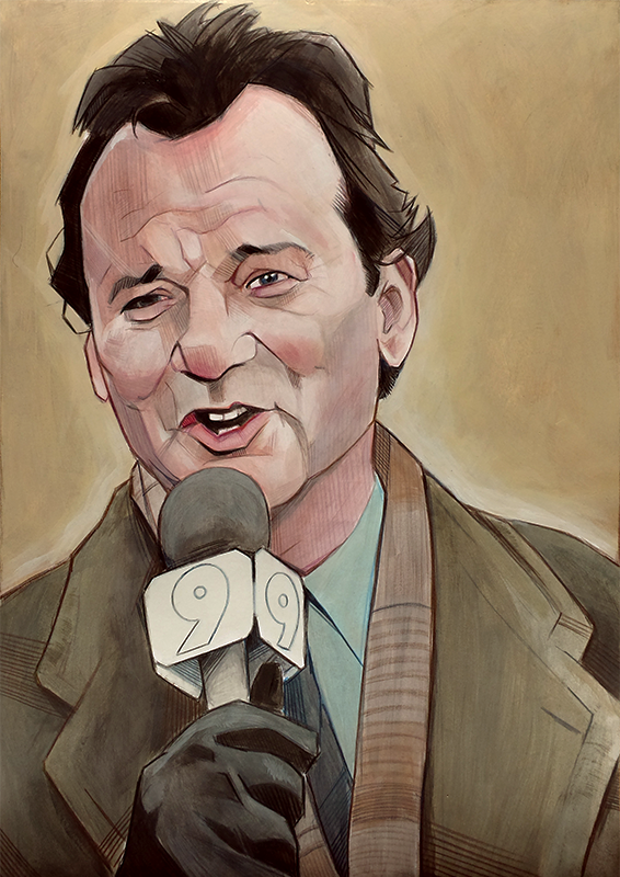 Groundhog Day Bill Murray Drawing