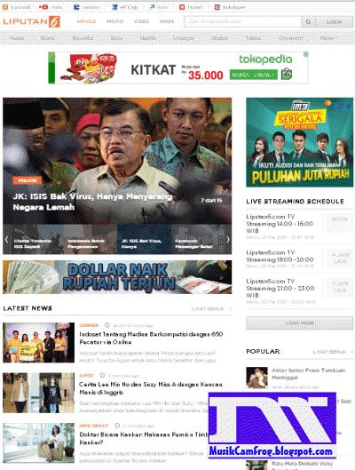 daftar situs populer di indonesia liputan6.com