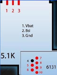 Nokia 6131 Pinout