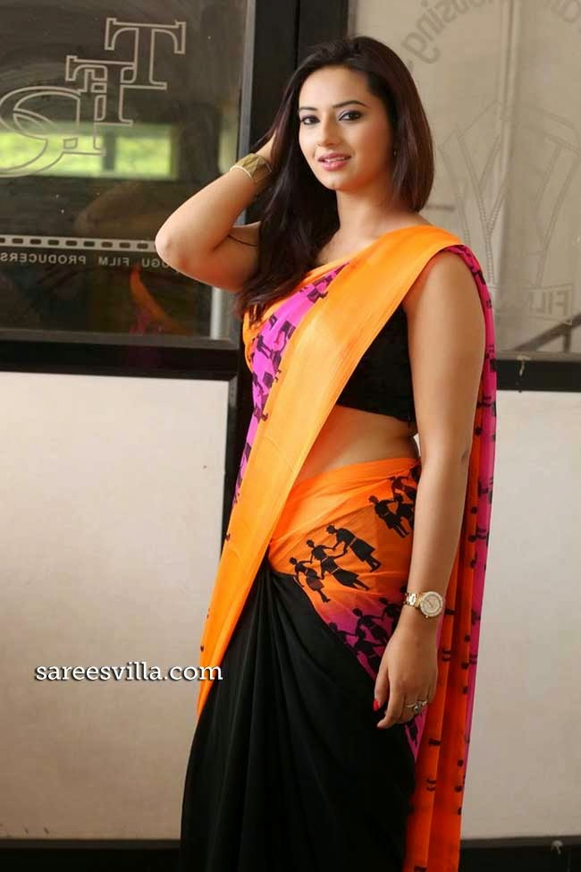 Iisha Chaawla In Half and Half Saree
