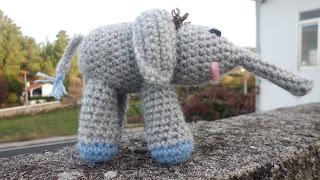 Amigurumi de Elefante a ganchillo o crochet