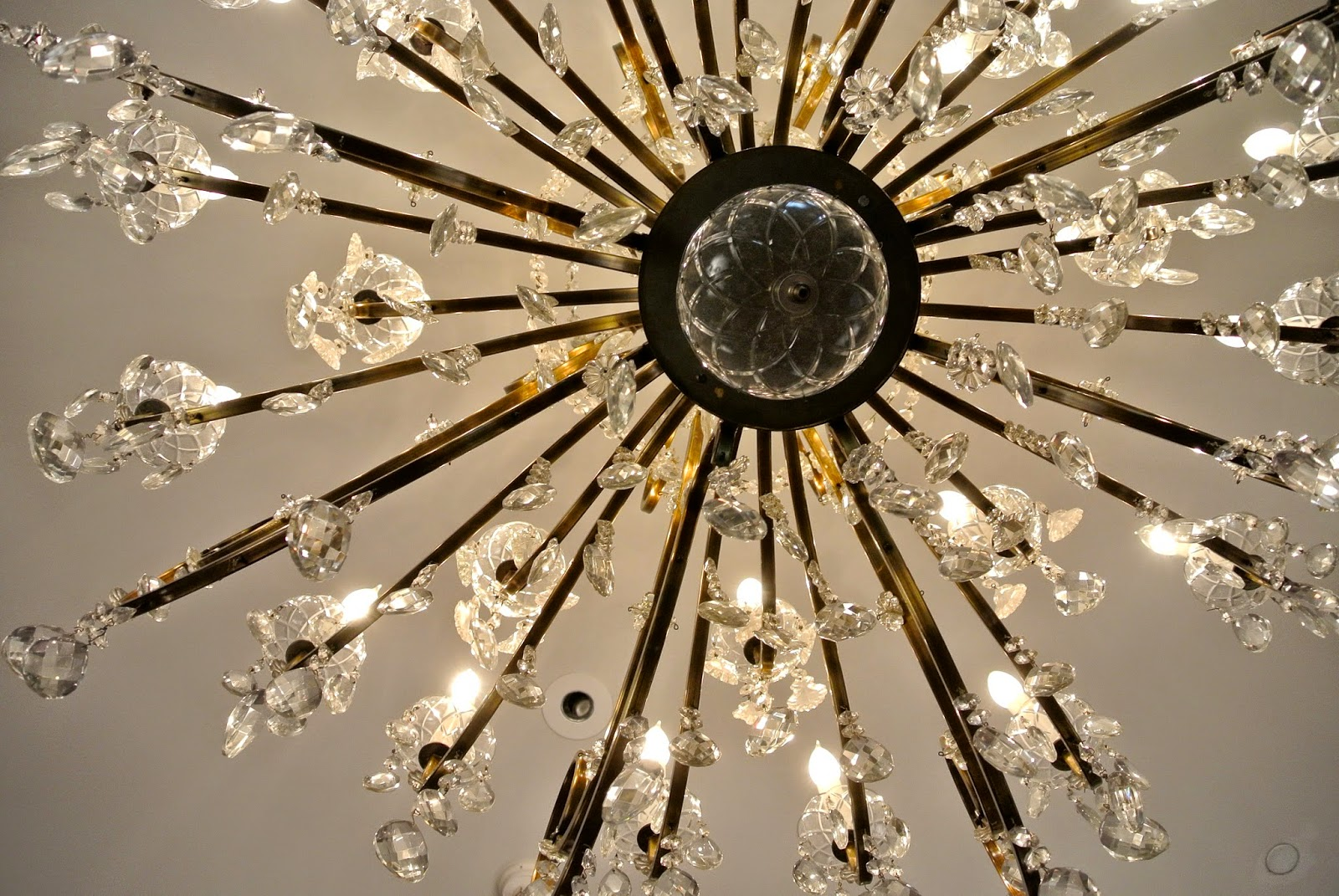 Close up of chandelier, Clift Hotel