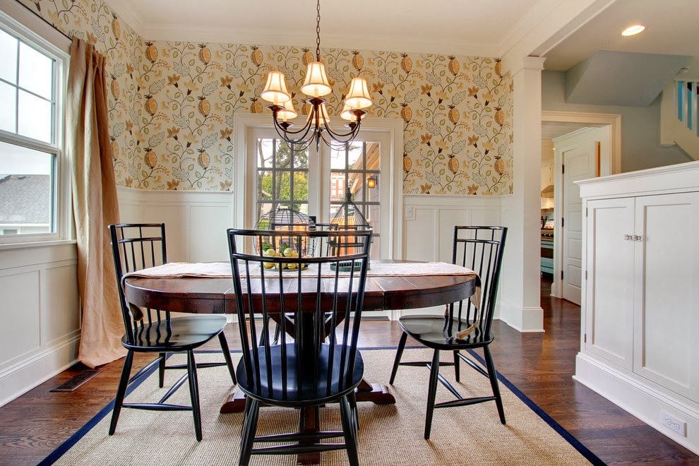 Le petit chateau designing the dining room for entertaining - Trend wallpaper dining ...
