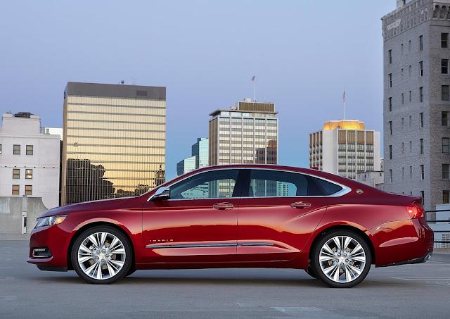 2014 Chevrolet Impala red profile