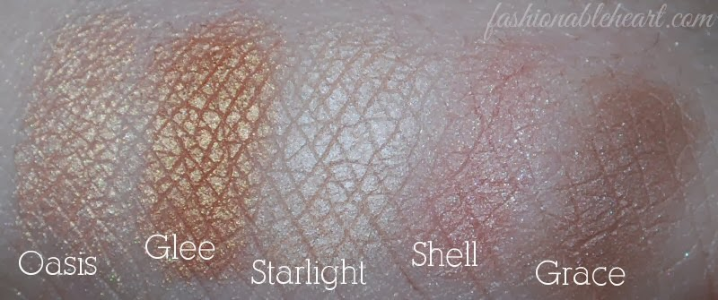 swatches Oasis Glee Starlight Shell Grace