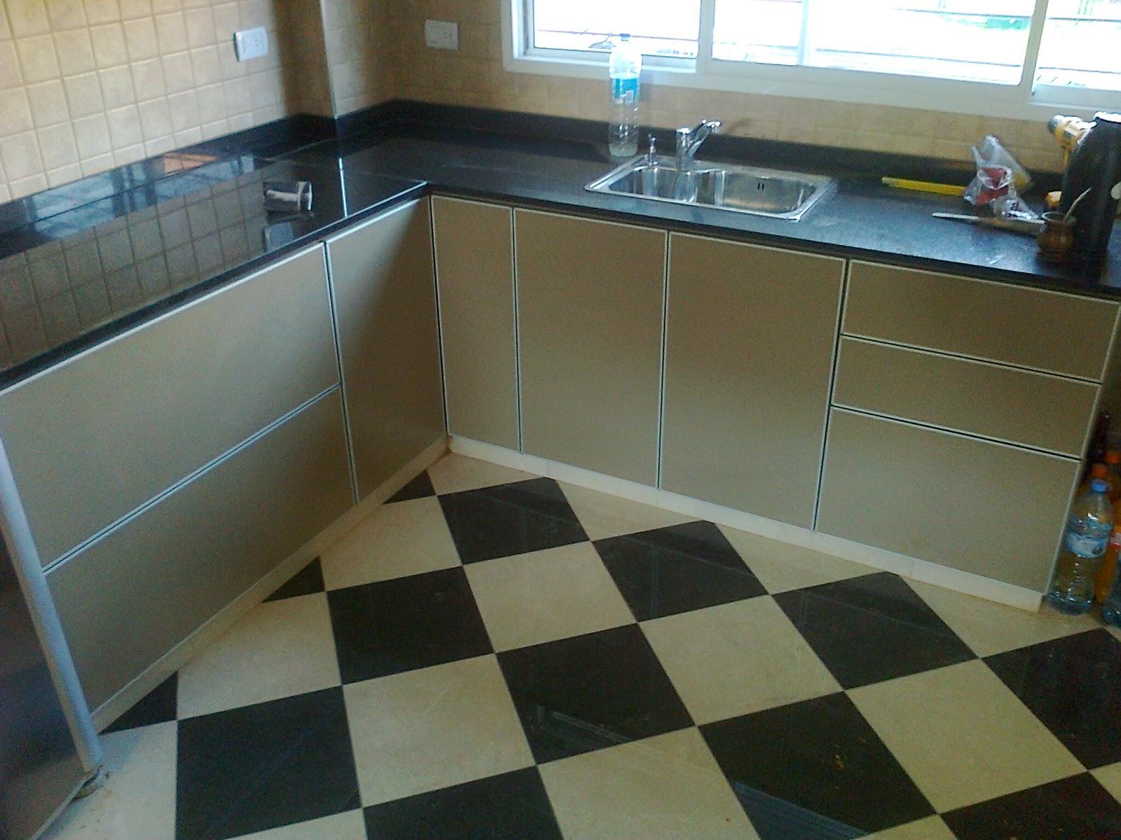 benjamin mueble de cocina melamina vison canto aluminio