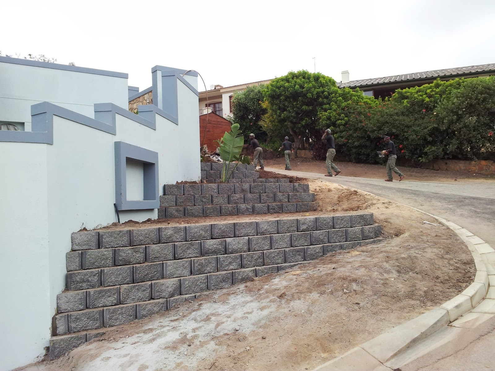 Dvc Civil Construction Decorative Terraced Retaining Wall