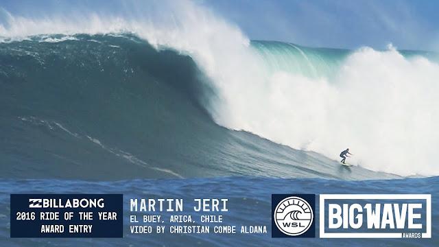Martin Jeri at El Buey - 2016 Billabong Ride of the Year Entry - WSL Big Wave Awards