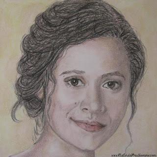 portrait artist, beauty art, original artwork, merlin, merlin art, bbc merlin, king arthur art, gwen, gwenever, angel coulby, angel coulby art