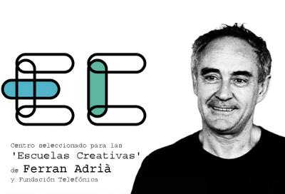 Centro seleccionado para las 'Escuelas Creativas' de Ferran Adrià