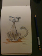 Cartoon Cat. Watercolor again. Posted by Seth Rutledge at 10:49 PM