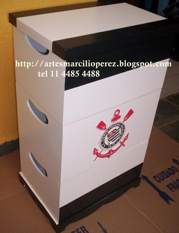 trio de caixas do Corinthians R$ 130,00