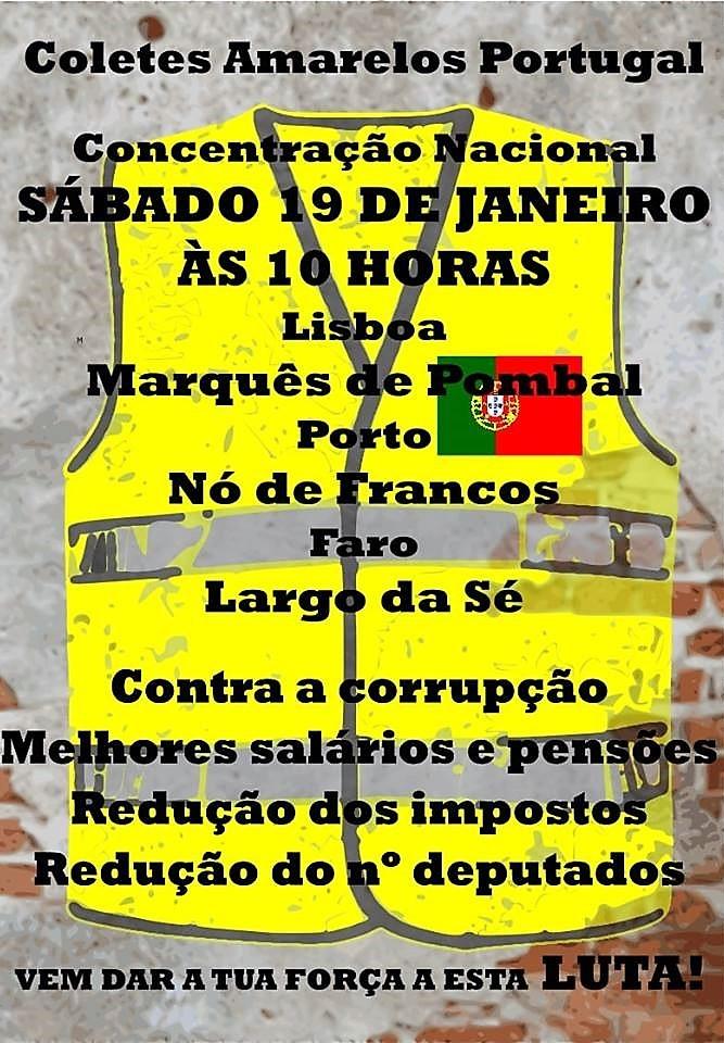 19 de janeiro, a partir das 10h: Portugal