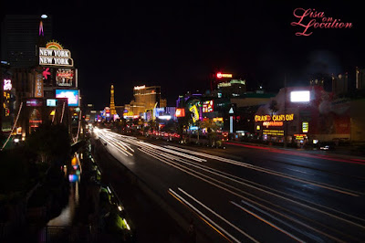 Las Vegas Nevada, Las Vegas strip at night, long exposure, light trails, New Braunfels photographer
