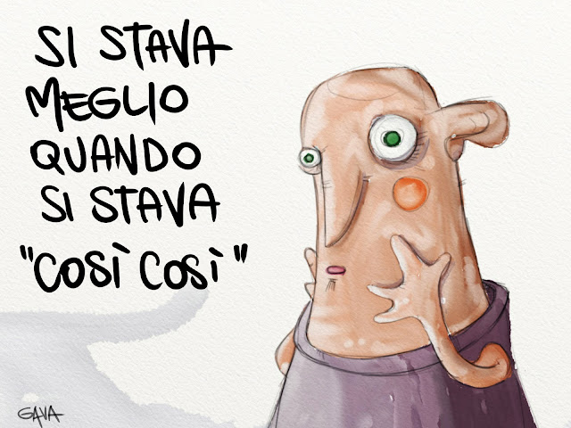 gavashop gava shop gavavenezia si stava meglio quando si stava satira una volta vignette caricature onlline governo