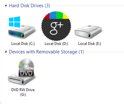 Changed Icon Of Drive