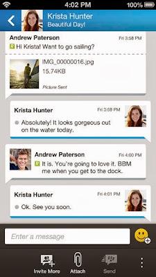 تطبيق بلاك بيري ماسنجر BBM لانظمة أندرود وأي او إس