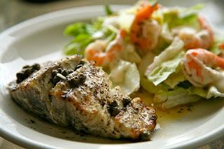 Grilled Wahoo & Ceasar Salad