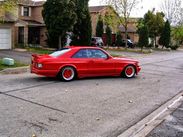 mercedes 126 amg 560sec red