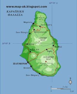 Montserrat Regional Political Map