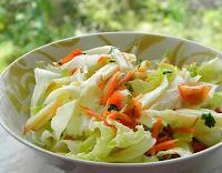 Salada com Molho de Tangerina (vegana)